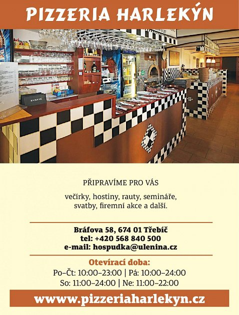 Pizzeria Harlekýn, Třebíč
