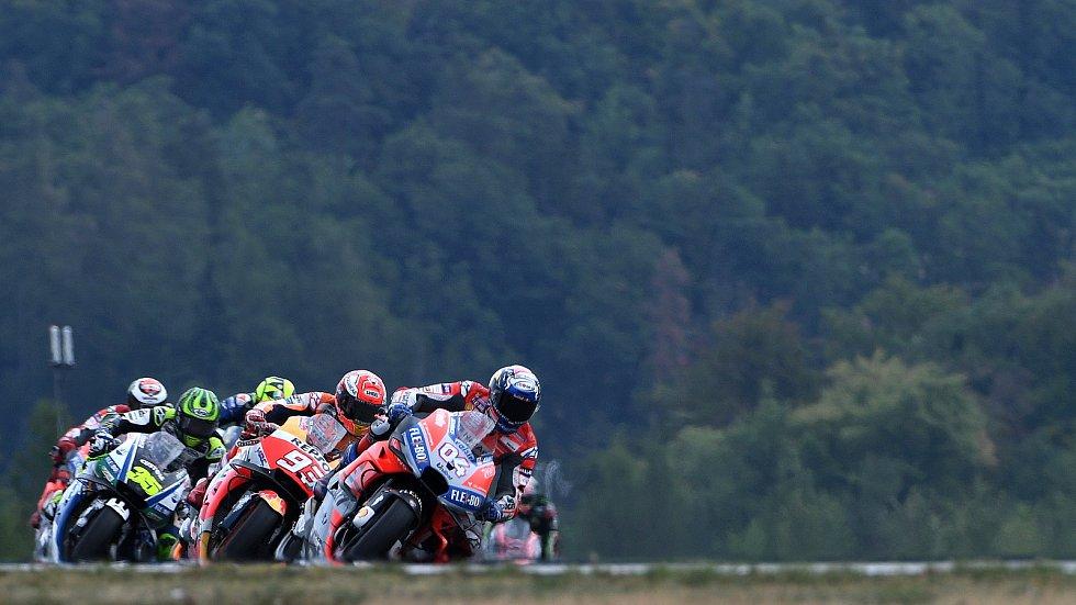 Nedělní Grand Prix České republiky - Andrea Dovizioso, Marc Márquez.