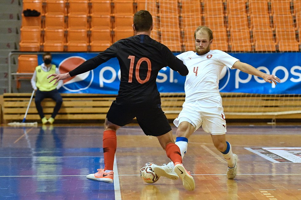 10.11.2020 - kvalifikae na mistrovství světa mezi Českou republikou v bílém (Radim Záruba) a Chorvatskem (Thomir Novak)