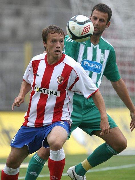 Fotbalista Zbrojovky Jaroslav Borák.