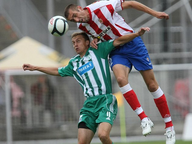 Fotbalista Zbrojovky Zbožínek.