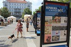 Na Moravském náměstí začala výstava ke sto letům od vzniku Československa