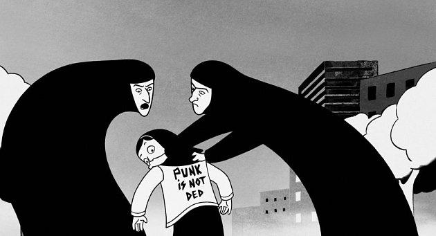 ČERNOBÍLÁ ANIMACE. Snímek Persepolis francouzské režisérky Marjane Satrapi bude bojovat i o Oscara.
