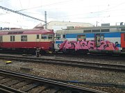 Na brněnském hlavním nádraží se srazily dva vlaky.