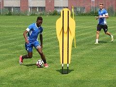 Středeční první společný trénink fotbalistů Zbrojovky před nadcházející sezonou.