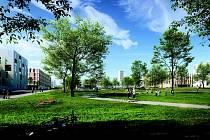 """1. cena – urbanistická soutěž na městskou čtvrť """"Na Kaménkách"""""""