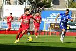 4. kolo FORTUNA:LIGY: FC Zbrojovka Brno (červená v popředí Přichystal) - SK Sigma Olomouc 2:4.