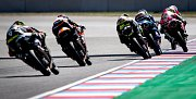 Finálový závod Moto3 Velká cena České republiky, závod mistrovství světa silničních motocyklů v Brně 4. srpna 2019.