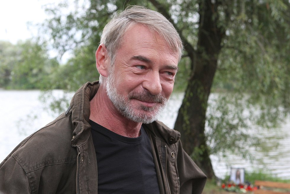 Natáčení nového seriálu České televize Hlava Medúzy - na snímku Jiří Dvořák.