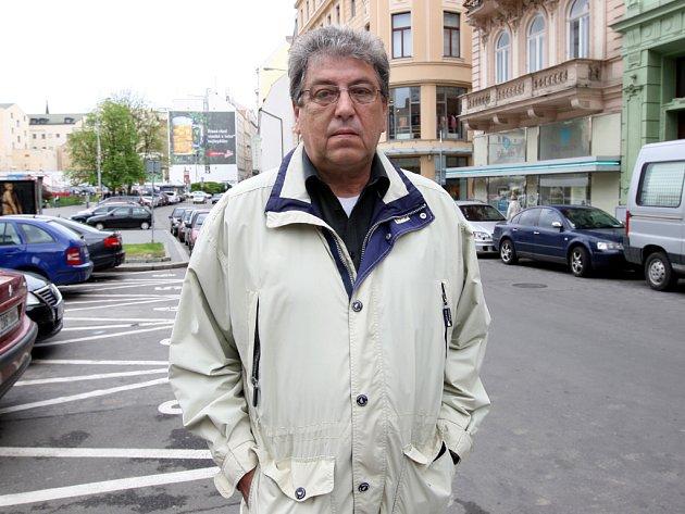 "Motocyklový ""dirigent"" Václav Janek."