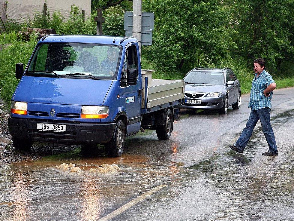 Následky pátečního deště v Bílovicích nad Svitavou.