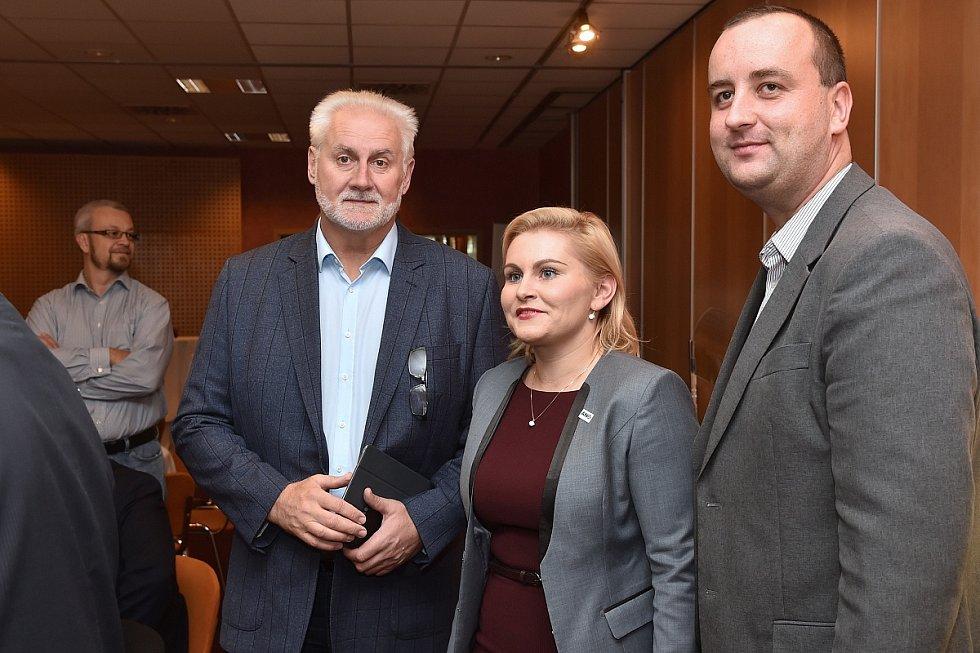 Volební štáb hnutí ANO v brněnském hotelu Voroněž.
