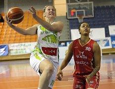 Basketbalistky Králova Pole v třináctém kole podlehly pražské Slavii 80:85.