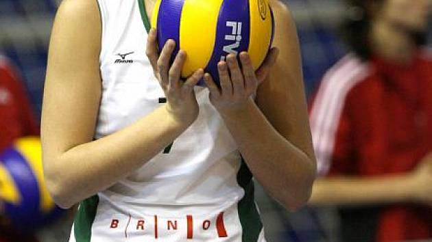 Volejbalistka Vincourová za KP Brno.