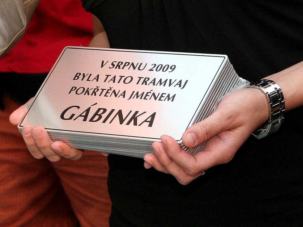 Křest nových tramvají na náměstí Svobody v Brně.