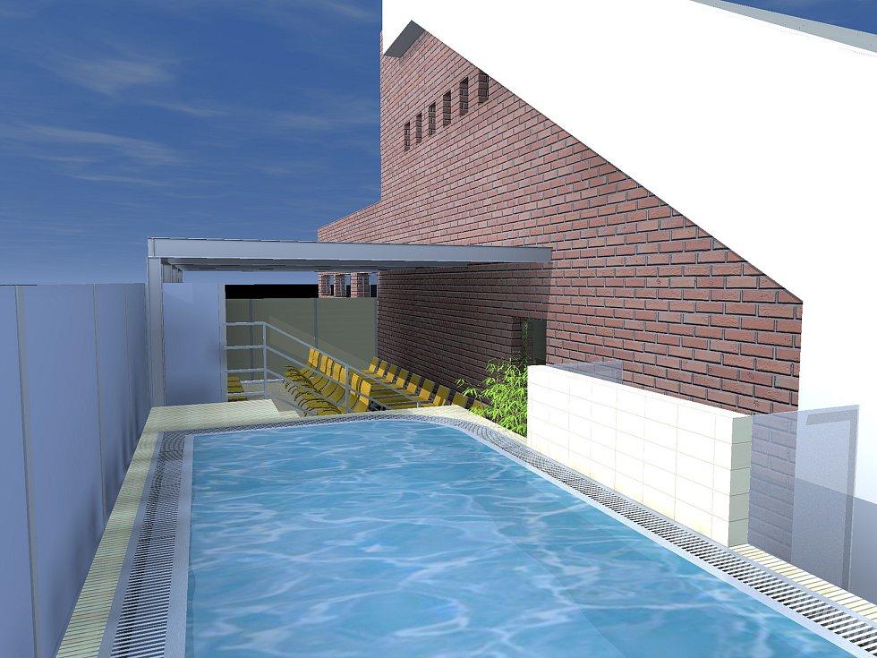 Na plaveckém stadionu Lužánky přibyde od příštího roku nové wellness. Na Brňany čeká whirpool i sauny.
