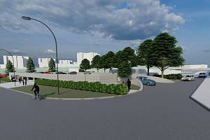 Nový parkovací dům na rohu Sedláčkovy a Vlkovy ulice v Líšni