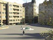 Vizualizace návrhu kašny na Dominikánském náměstí - návrh 2