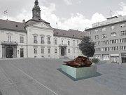 Vizualizace návrhu kašny na Dominikánském náměstí - návrh  3
