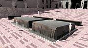 Vizualizace návrhu kašny na Dominikánském náměstí - návrh 4