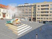 Vizualizace návrhu kašny na Dominikánském náměstí - návrh  5