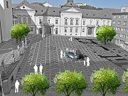 Vizualizace návrhu kašny na Dominikánském náměstí - návrh 9