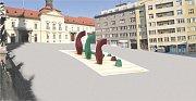 Vizualizace návrhu kašny na Dominikánském náměstí - návrh 11