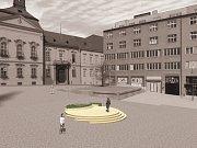 Vizualizace návrhu kašny na Dominikánském náměstí - návrh 1