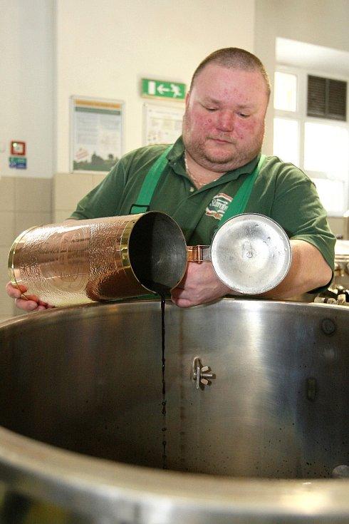 Vaření Zeleného piva Starobrno.