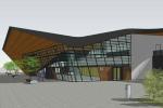 Vizualizace nové podoby vlakového nádraží v brněnském Králově Poli.