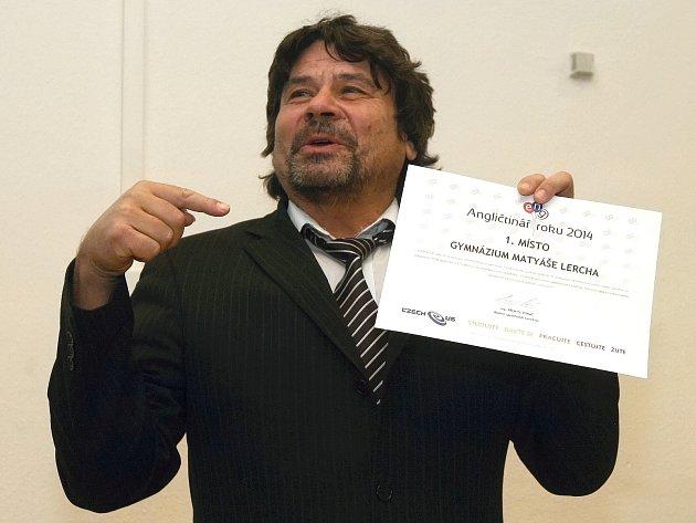 Předávání ocenění v soutěži Angličtinář roku.