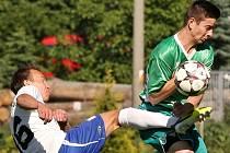 Fotbalový zápas Líšně s Bystrcí.