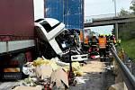 Hromadná nehoda na dálnici D1 ve směru na Vyškov.