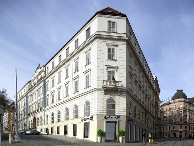 Vizualizace chystaného Hotelu Radisson Brno - dům Padowetz