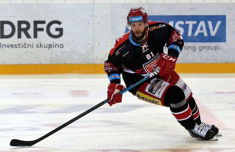 Hokejista Tomáš Vincour ještě v dresu Hradce Králové.