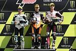 Brno 04.08.2019 - Moto GP 2019 - závod Moto 3 - 1. Aron Canet  2. Dalla Porta  3. Tony Arbolino