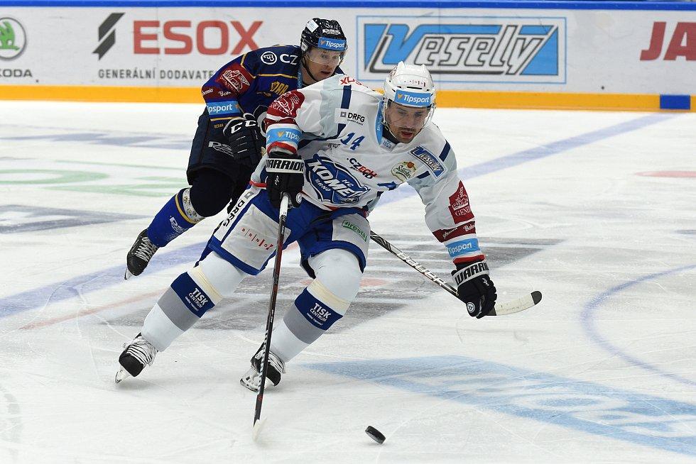 Domácí HC Kometa Brno v bílém proti PSG Berani Zlín