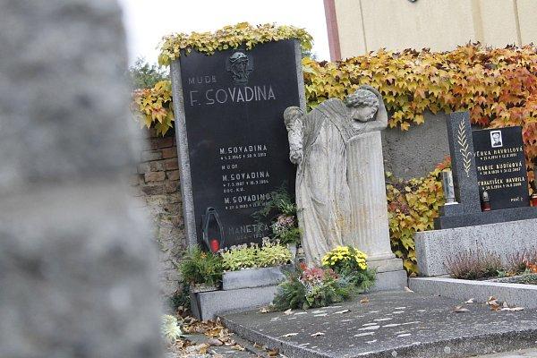 Hrob Františka Sovadiny.