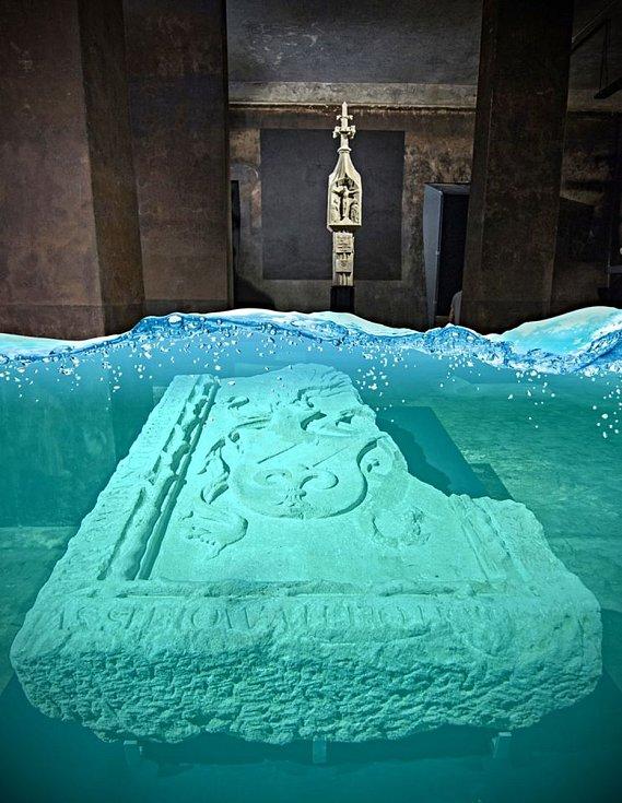 Původně mělo 1.4. Muzeum města Brna otevřít novou expozici lapidária Chrám kamene v opravených vodojemech na Špilberku. To se kvůli pandemii odkládá. Vodojemům se vrátí jejich původní účel. Brnu se může zásoba vody hodit. Foto: Facebook/ Špilberk žije