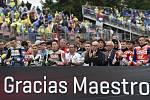 Monster Energy Grand Prix České republiky 2017, minuta ticha za zesnulého Ánguela Nieta.