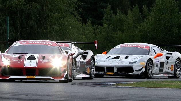 Ferrari Challenge se na brněnské dráze naposledy uskutečnilo před třemi lety.