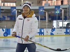 Hokejista Komety Brno a kapitán českého olympijského výběru Martin Erat v Olympijském parku na brněnském výstavišti.