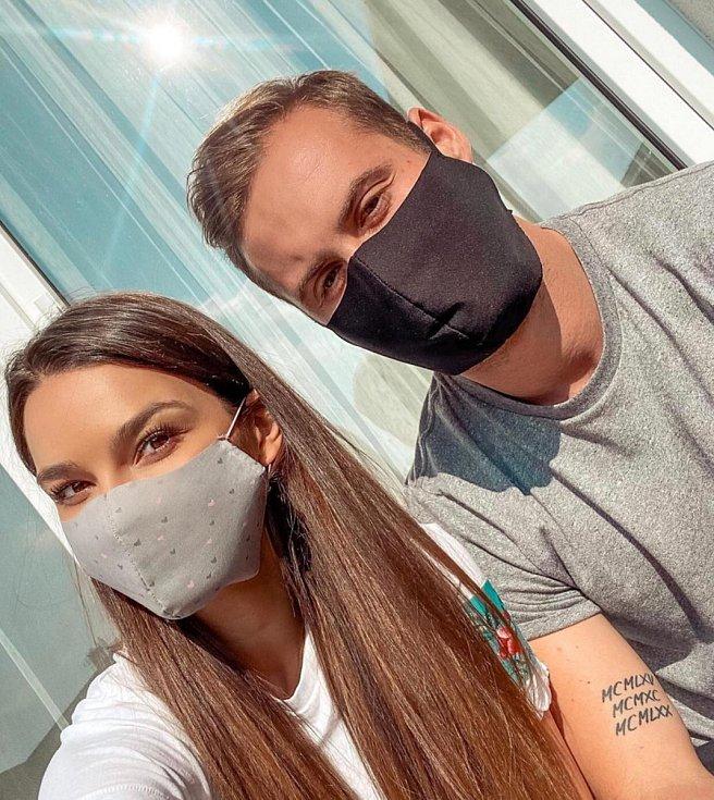 Poznali jste je? Modelka Nikol Švantnerová s přítelem Patrikem Dresslerem, fotbalovým obráncem Hodonína.
