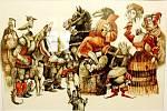 Výstava Kam i čert může představuje práce ilustrátora Karla Franty.