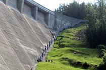Ministr zemědělství Miroslav Toman si v úterý prohlédl Vírskou přehradu.