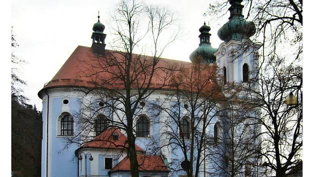 Katolický chrám Panny Marie Bolestné ve Sloupu na Blanensku.