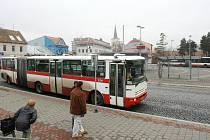 Autobusový terminál v brněnské Bystrci.