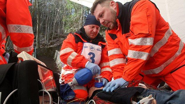 Krajské kolo klání záchranářů Jihomoravského kraje Rallye Rejvíz, které se konalo v Moravském krasu
