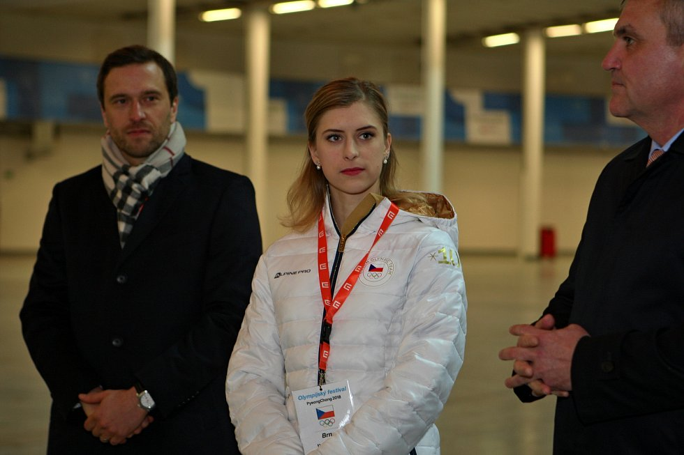 Ambasadorka Olympijského festivalu v Brně Eliška Březinová.