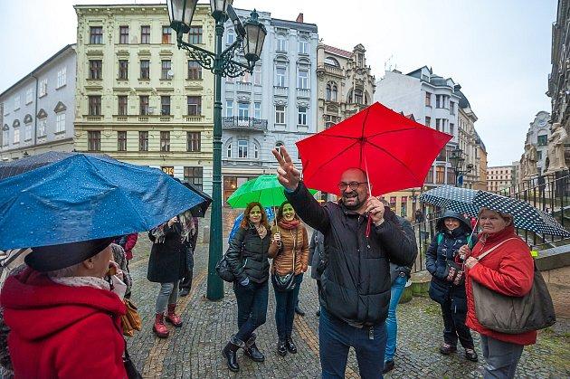 Martin Koplík již dvacet let provádí zájemce po Brně při komentovaných prohlídkách města.